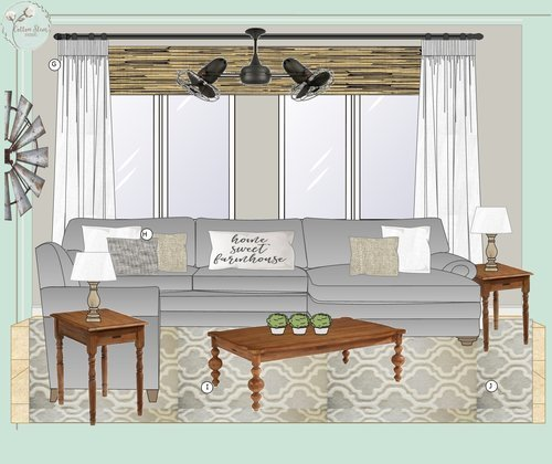 CottonStem.com edesign e-design modern farmhouse living