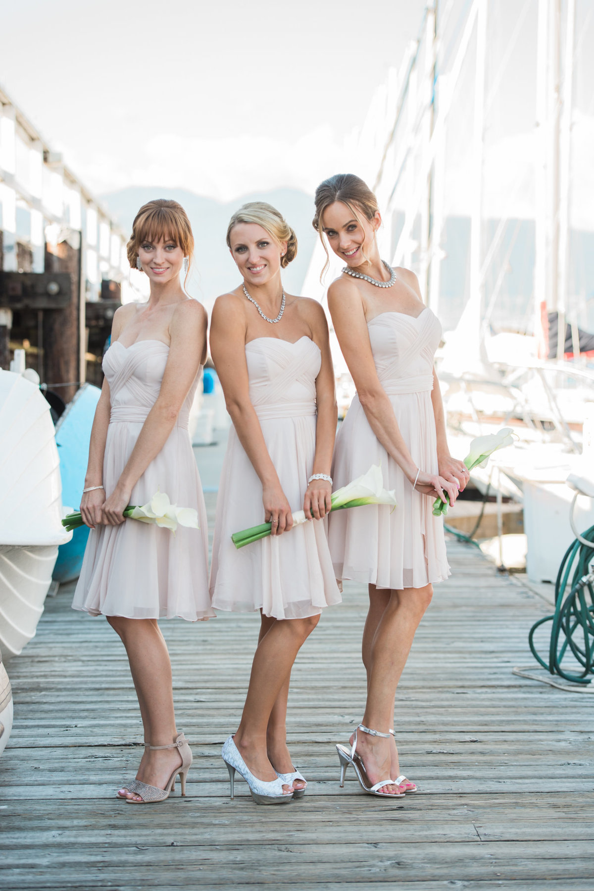 bridesmaids  Vancouver Yacht Club wedding