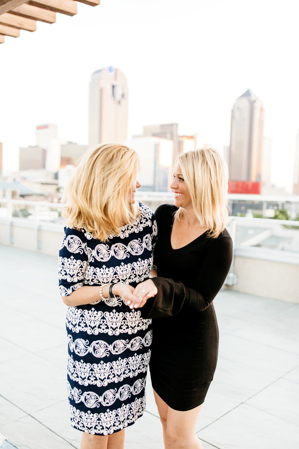 Eric & Megan - Downtown Dallas Rooftop Proposal & Engagement Session-161