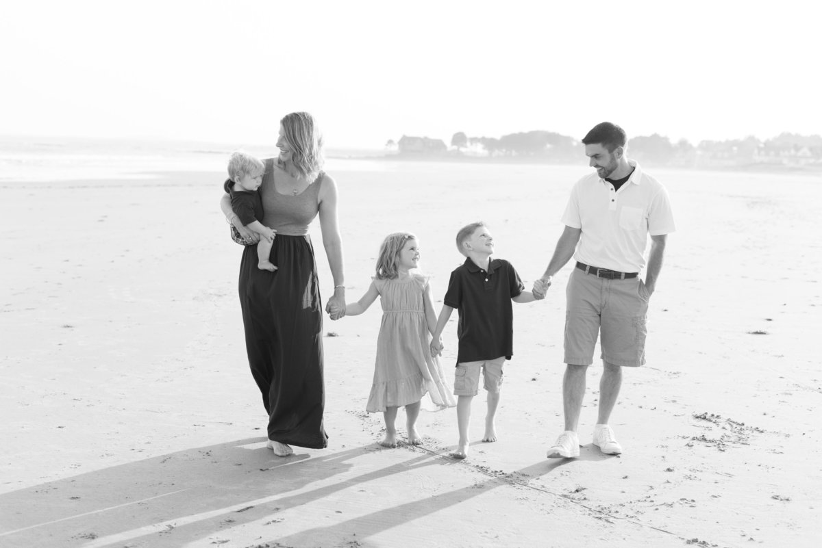 family photos at parsons beach in kennebunk maine