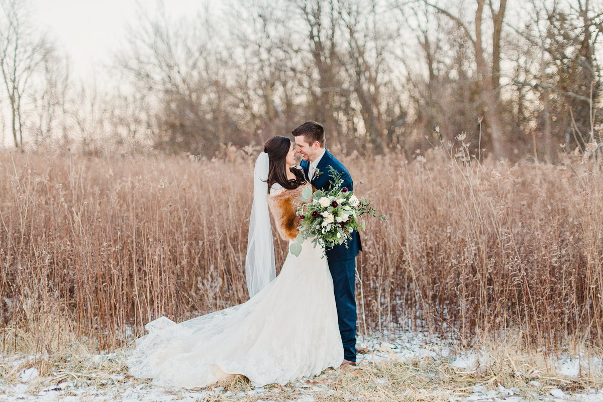 peoria wedding photographer winter wedding