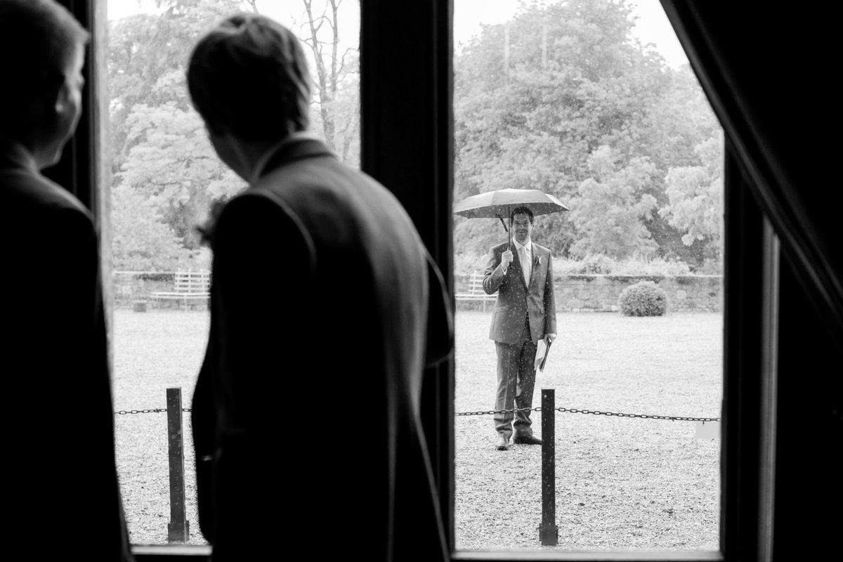 wet wedding at huntsham devon