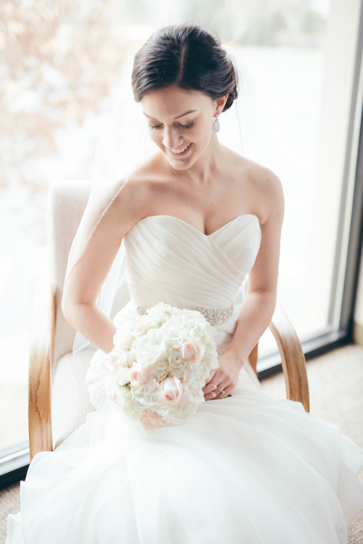 The sweetest bride and her bouquet