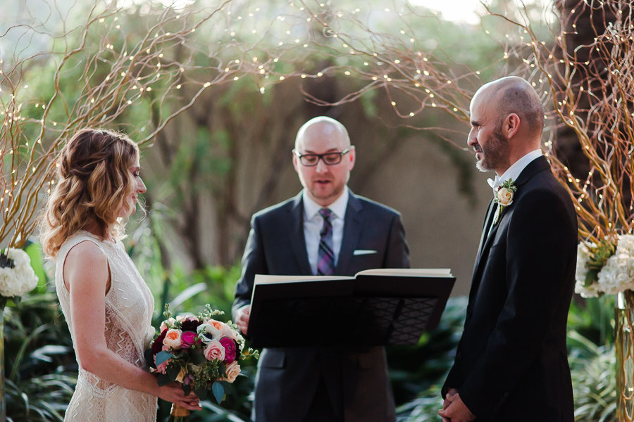 Magical outdoors wedding ceremony
