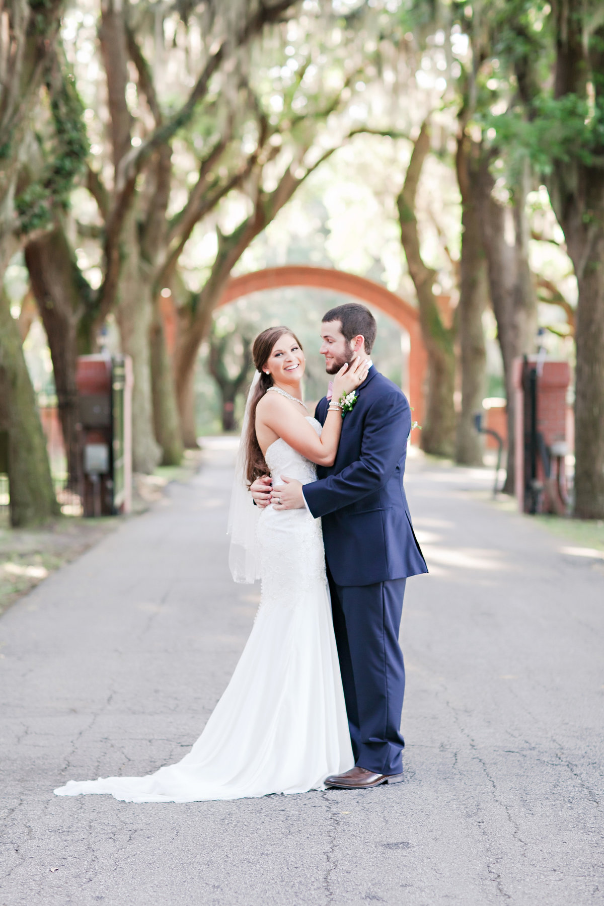 Savannah Whitefield Bethesda Spring Wedding Bride Groom Pink Navy Peonies Portrait Romantic