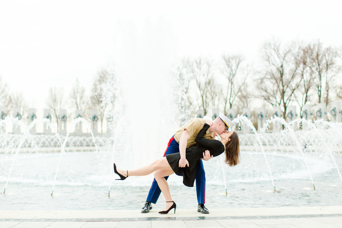 Washington DC Cherry Blossoms Engagement Session Tidal Basin Lincoln Jefferson Memorial-34