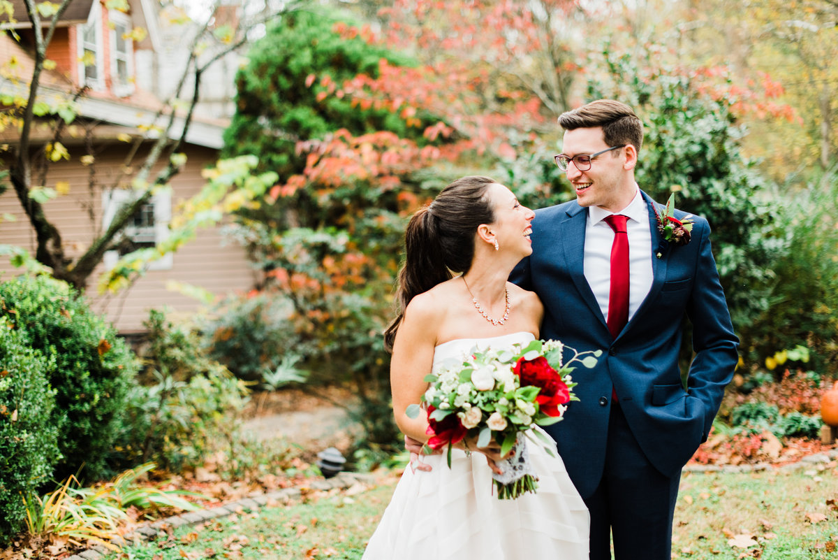 nc fall wedding photo