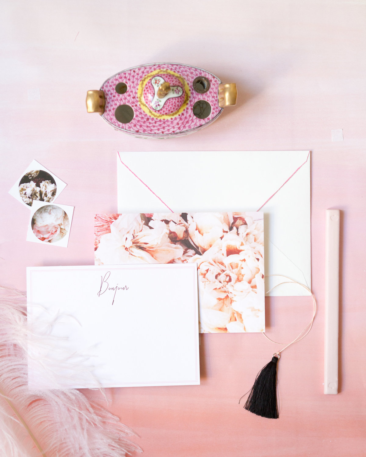 Peonie Bonjour Stationery (1 of 1)
