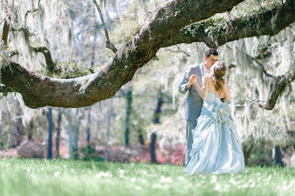Breathtaking backdrop and wedding photography at Magnolia Plantation and Gardens in Charleston, SC. Magnolia Plantation Wedding Photography by one of the top Charleston wedding photographers.