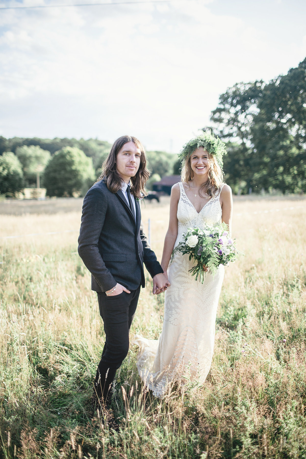 BRIDE AND GROOM RUSTIC BOHEMIAN WEDDING