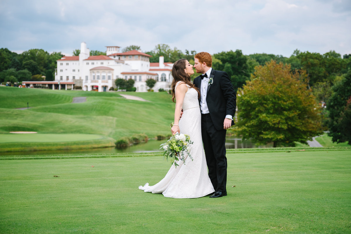 congressional country club wedding on the course