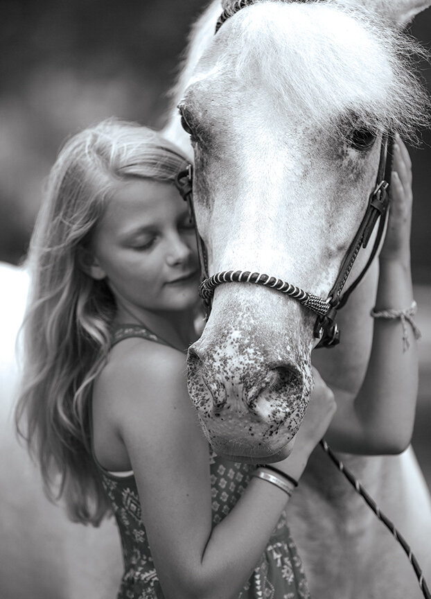 girl and her horse portrait photo by Stunning Steeds