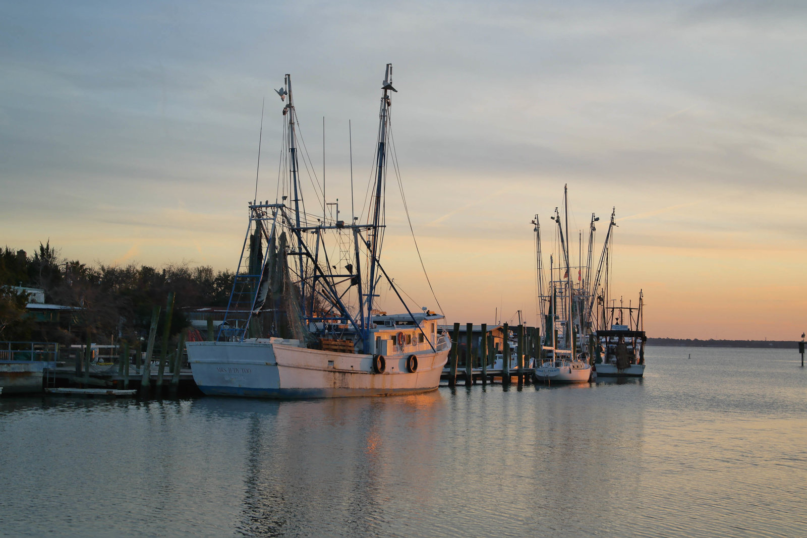 Boats docked at Shem Creek, Charleston, SC photography