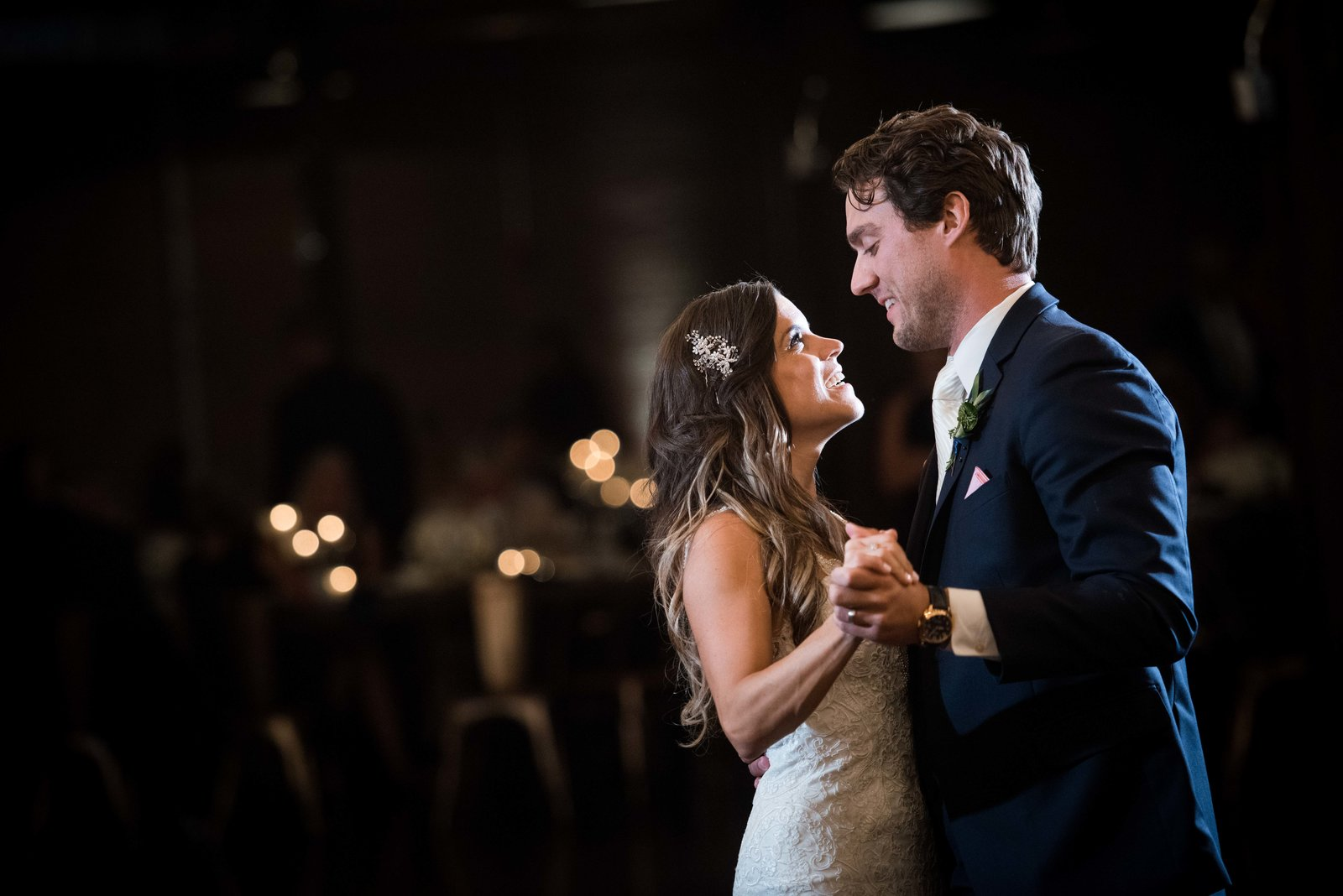 Couple's first dance,