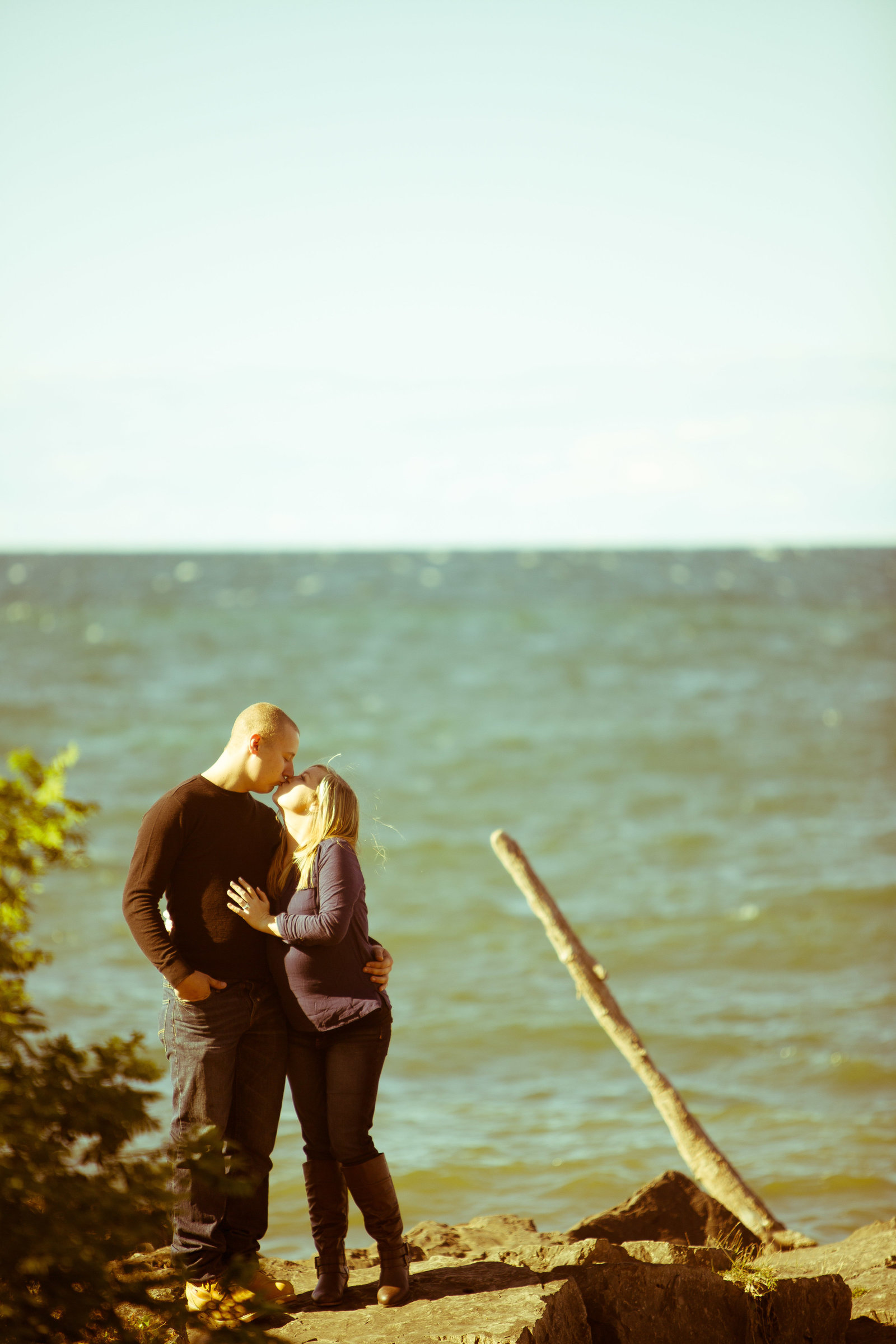 engagement photo by lake ontario