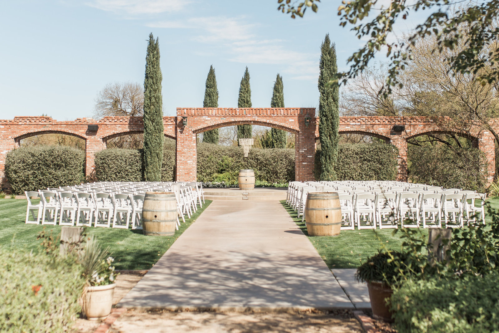 Windmill Winery Rustic Elegant Ceremony Location with Arches