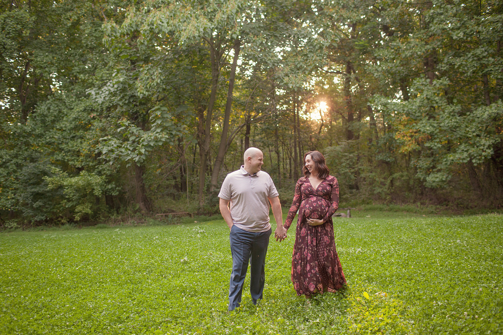 Expectant parents enjoy fall session