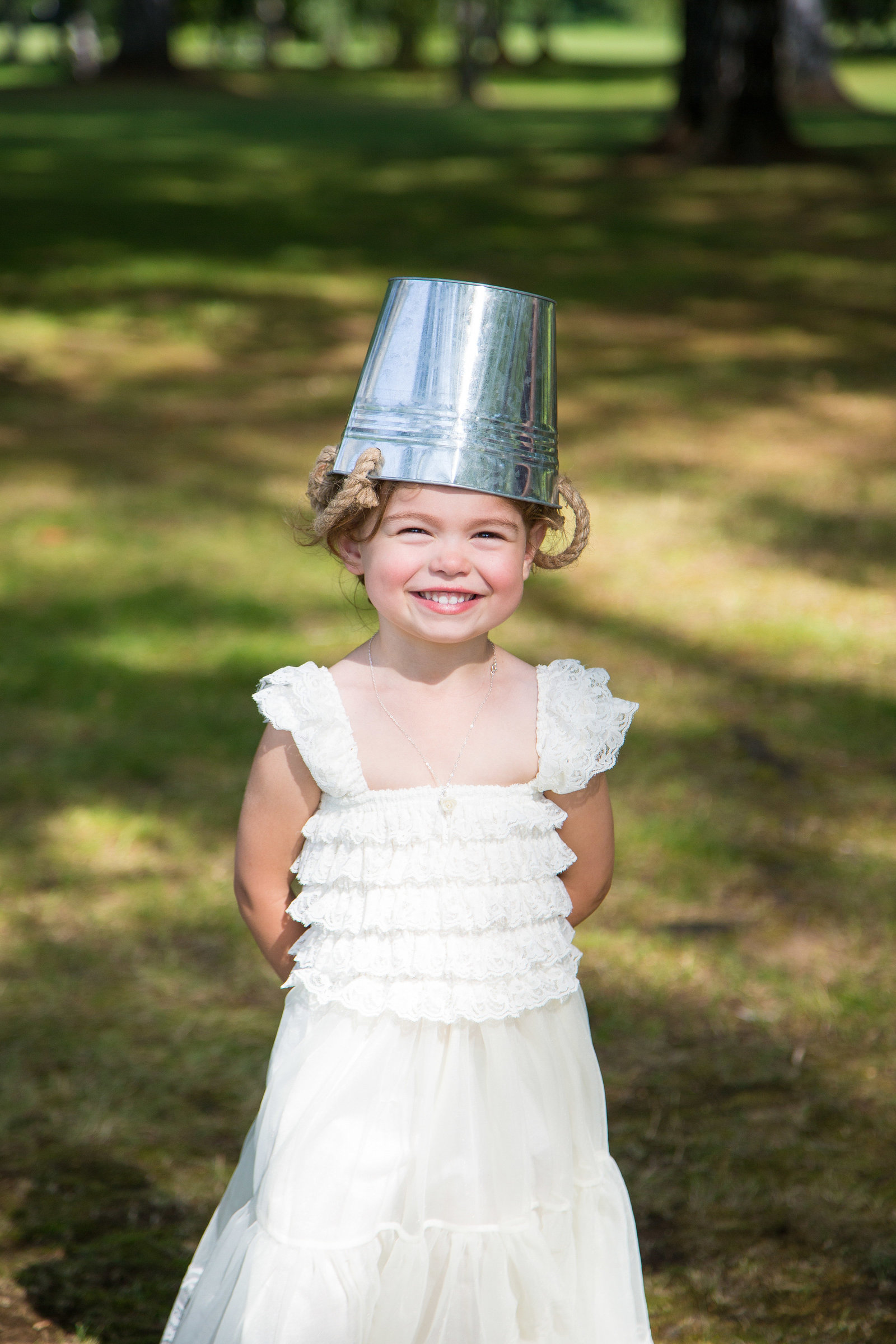 wedding photography flower girl portrait