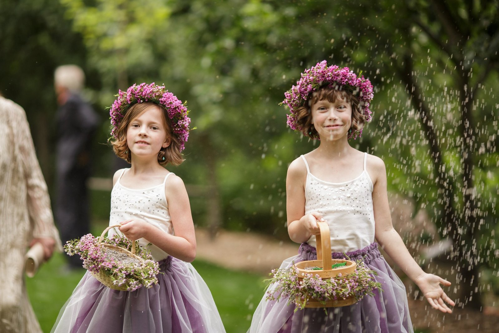 flower-girls-with-lavendar-flowers