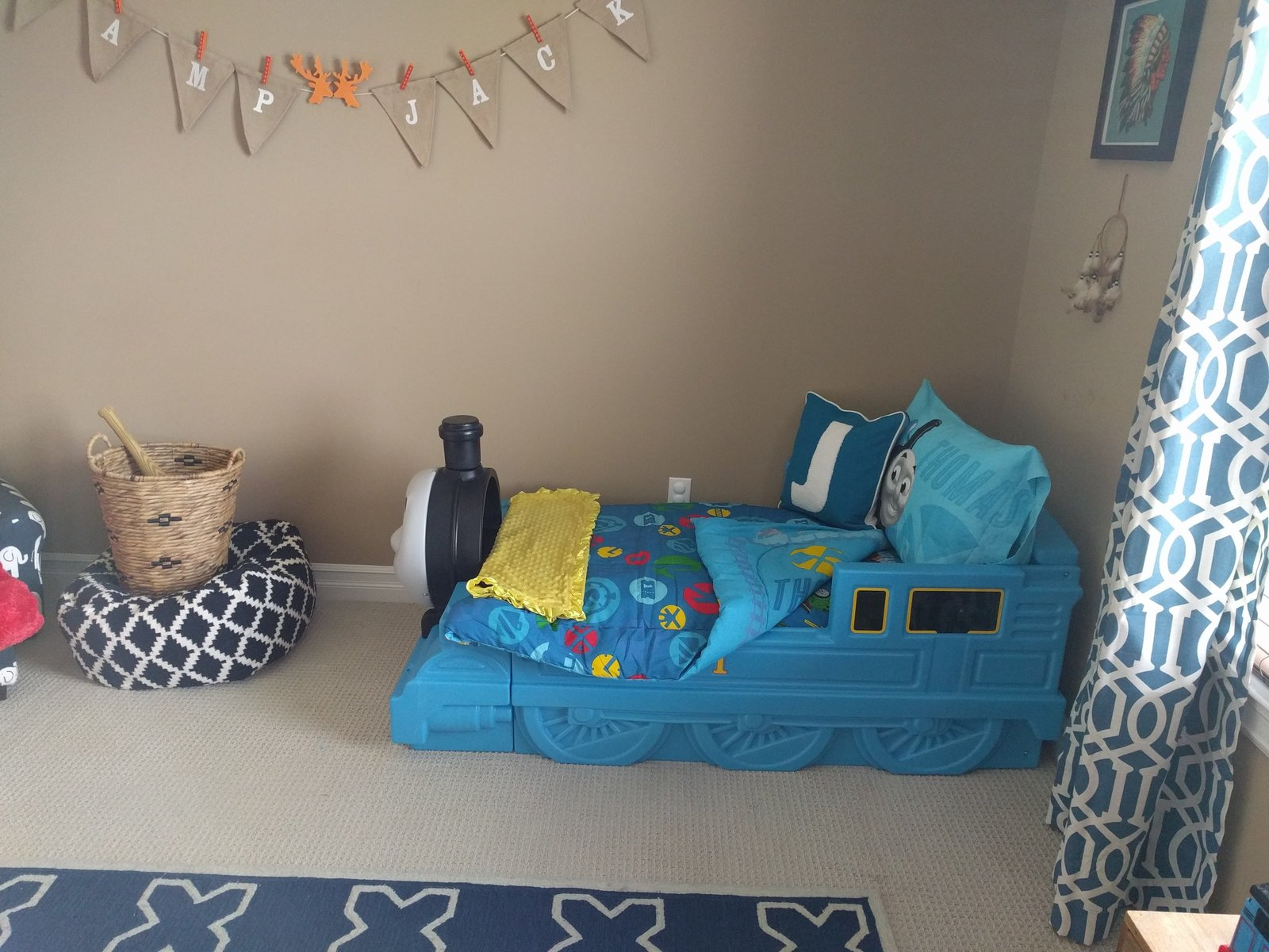colorful toddler boy bedroom