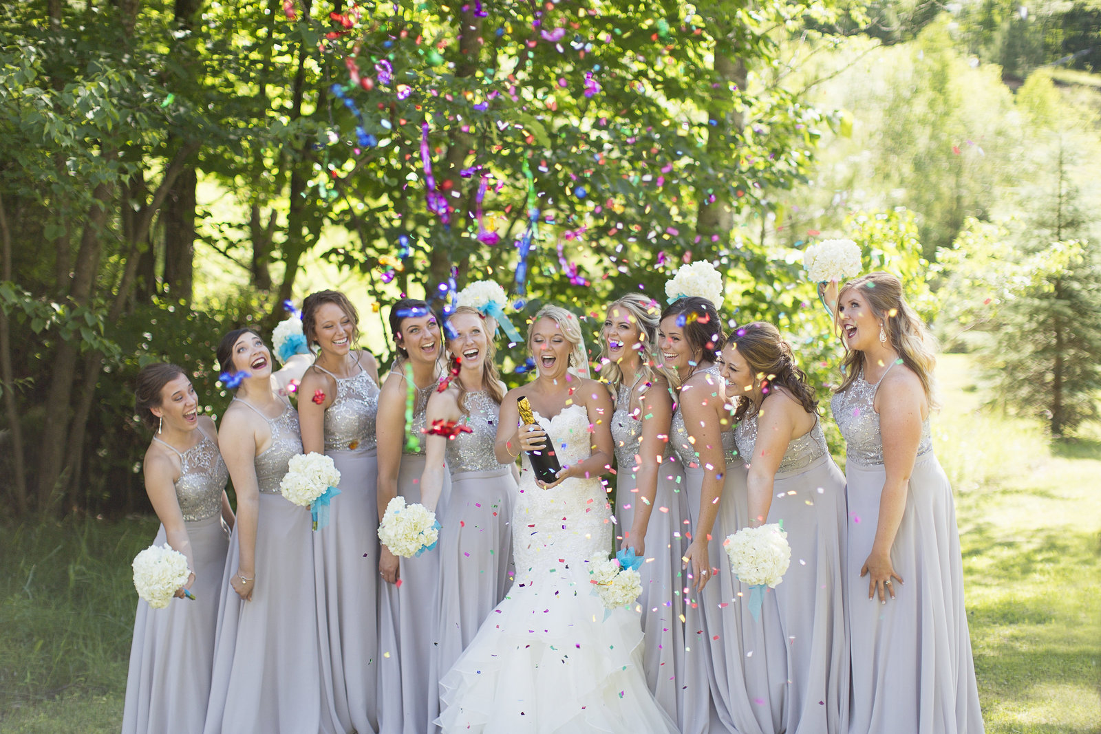 Confetti Popper Wisconsin Wedding Photographer Photos by Ciera