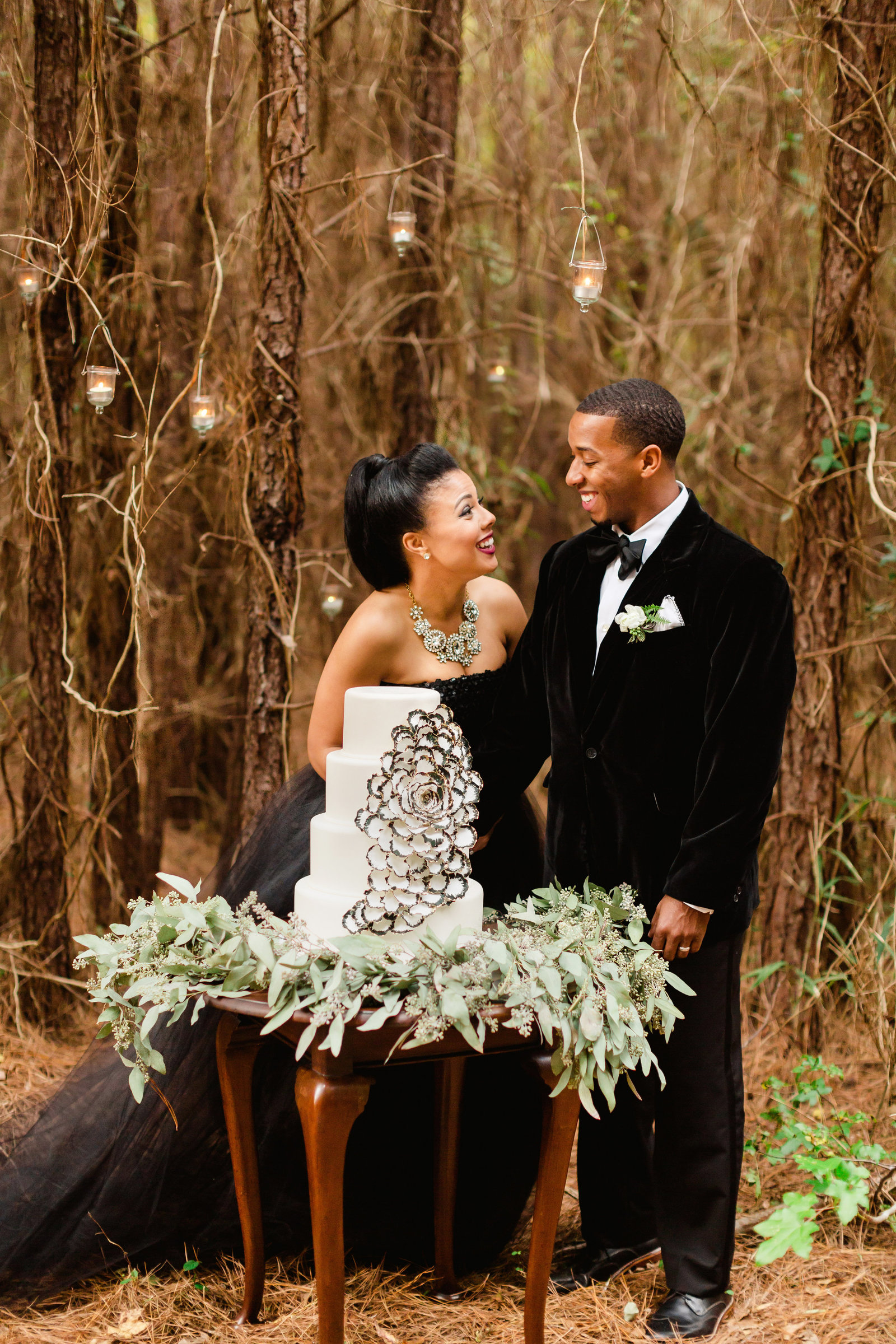 winter elopement in southern pines
