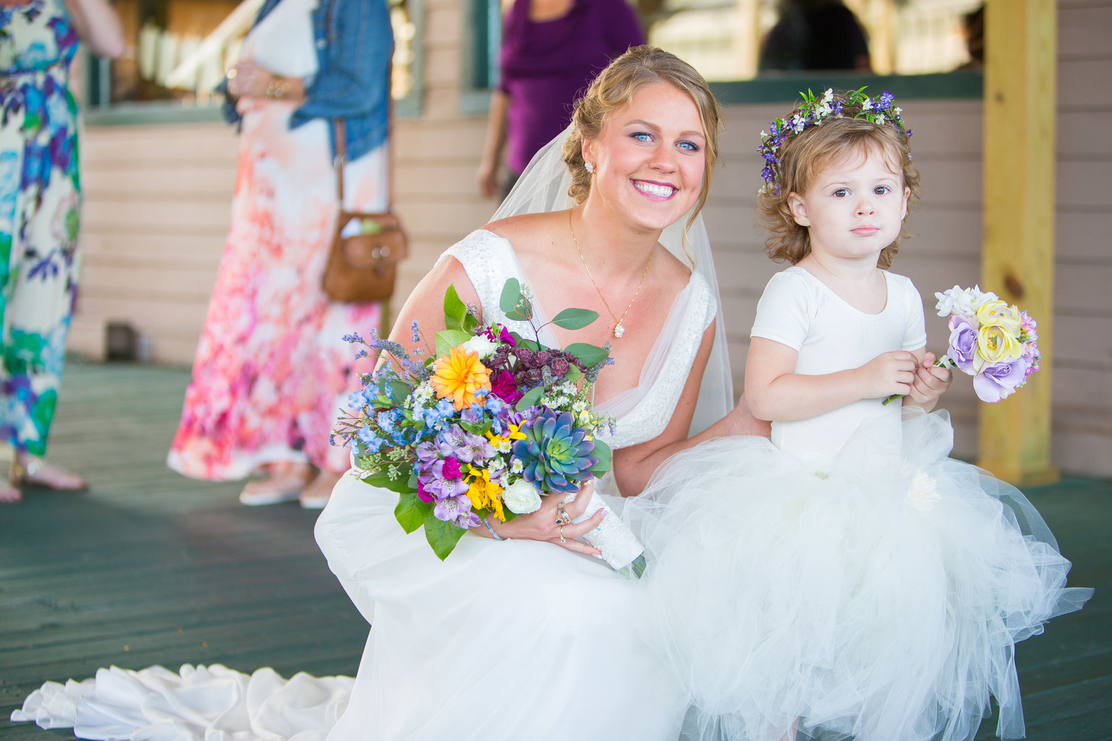wedding photography bride and flower girl photo