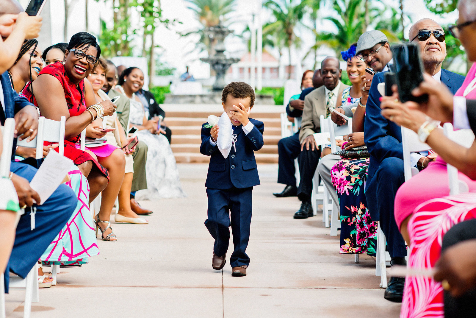 Shy ring bearer Bahamas photographer Lyndah wells