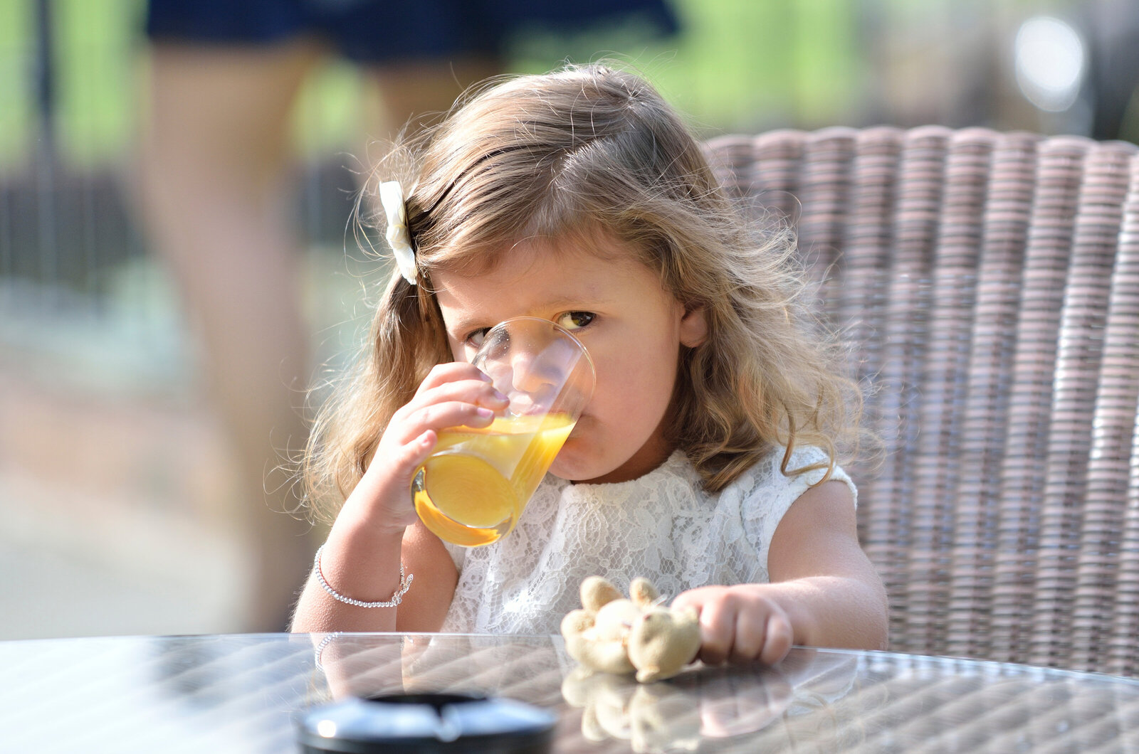 cute girl drinking orange