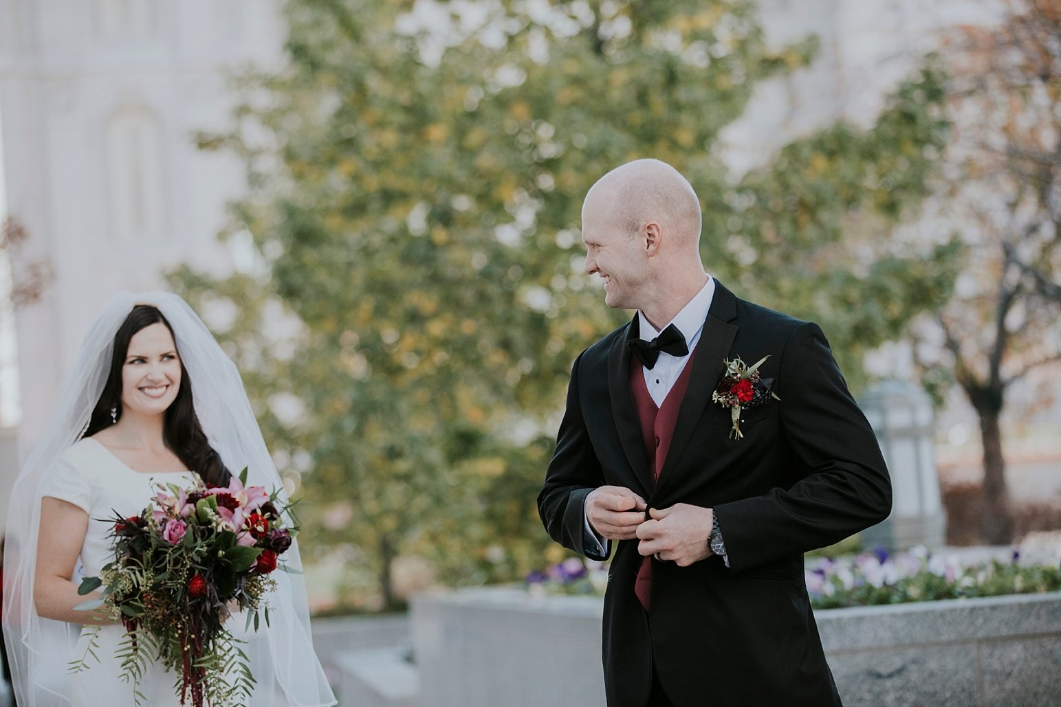 Utah Wedding Photographer Kamille Bauer Cody Calderwood Salt Lake Temple Salt Lake Hardware Building_0305