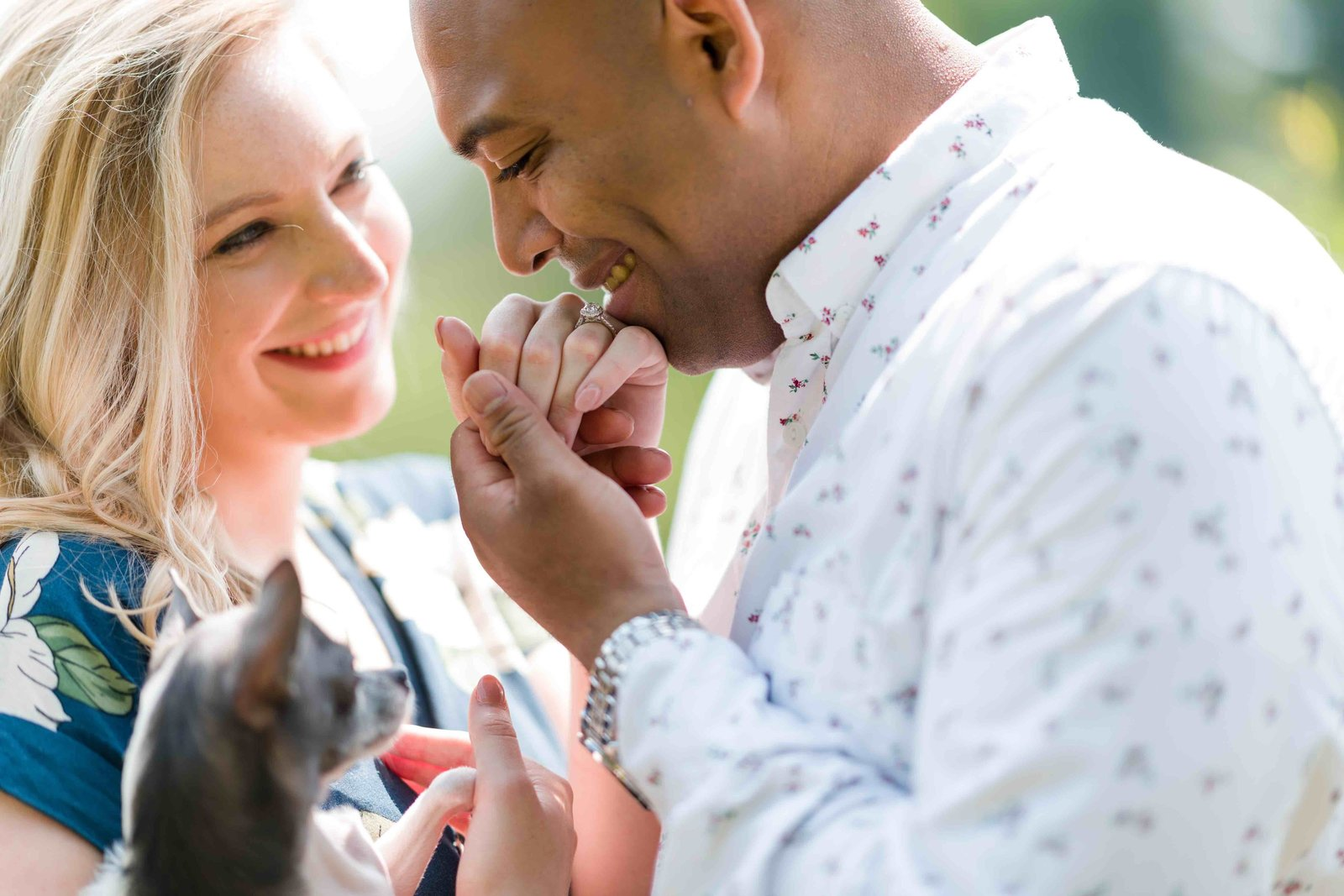 01 Engagement photos with dogs wedding at willowdale estate