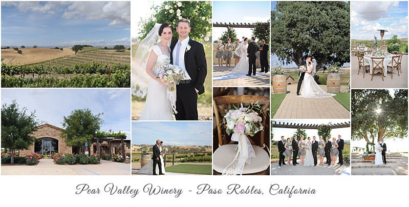 Pear Valley Winery Paso Robles elegant vineyard wedding