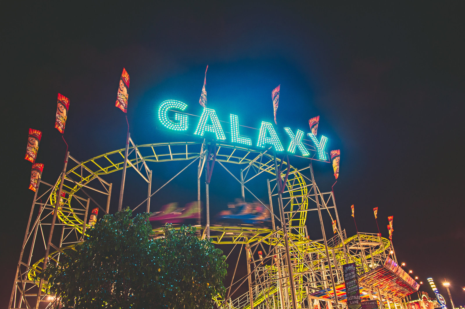 Galaxy roller coaster at Orange County Fair