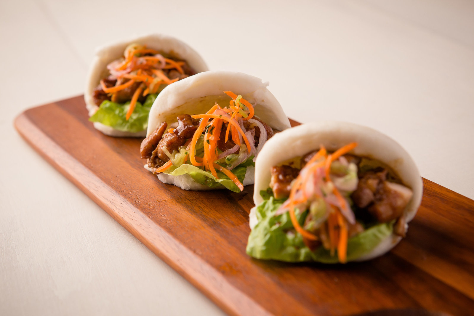 Tray of Asian sliders Hudson Valley NY food photographer