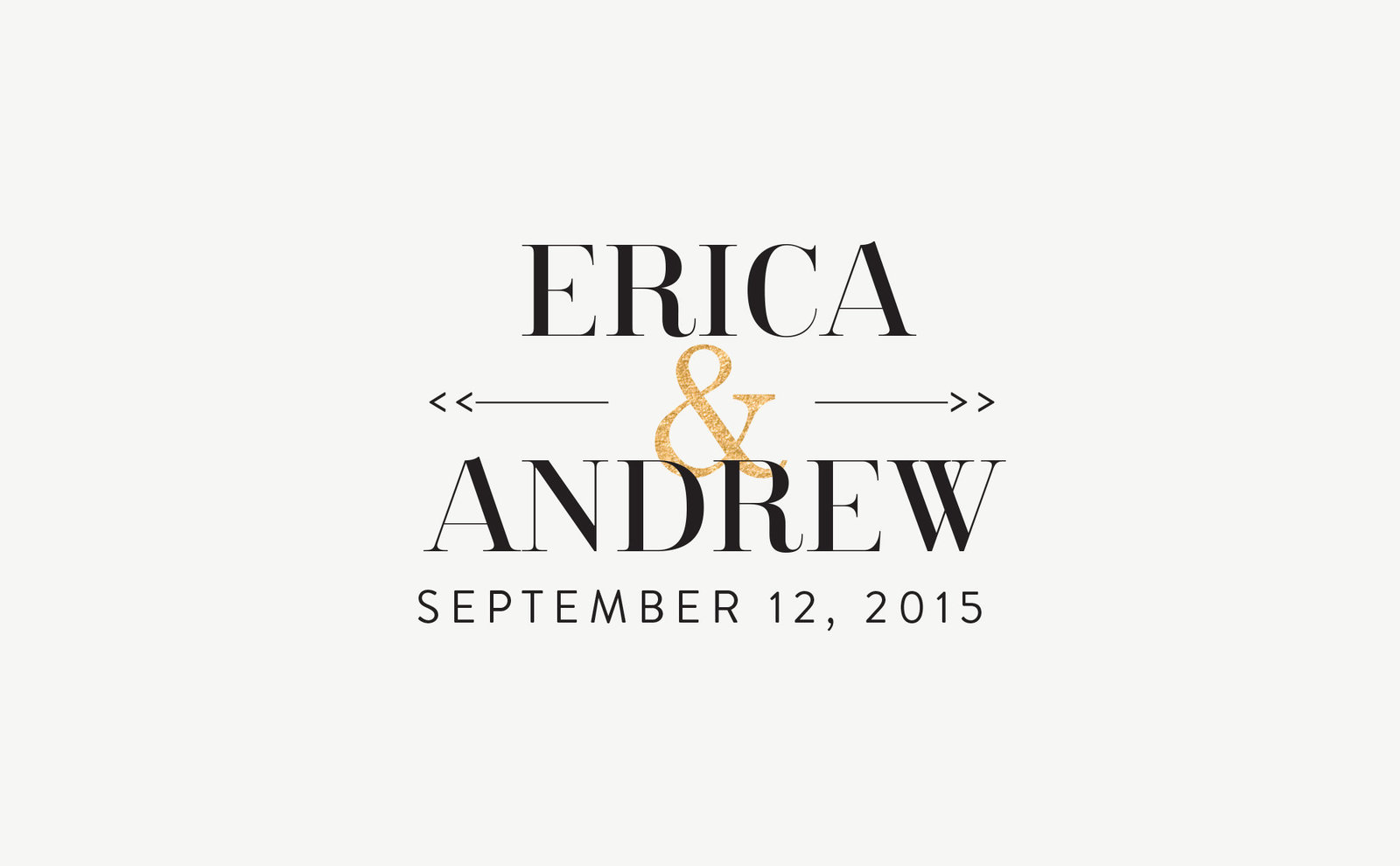 wedding-logo-black-gold-erica-andrew