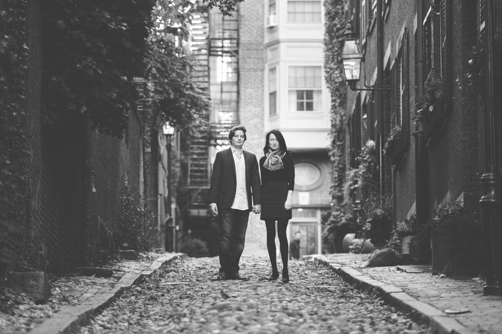 acorn street boston, engagement photos