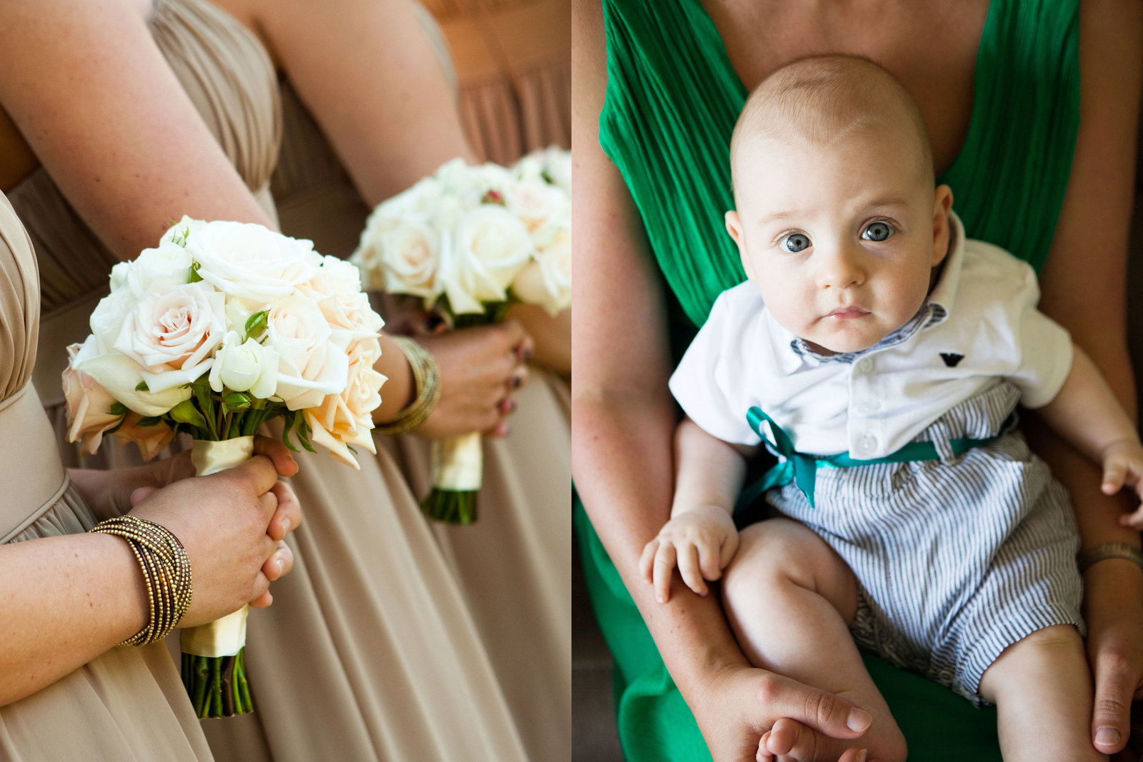 Bridesmaids Flowers, Wedding Baby, Jennifer Baciocco Photography