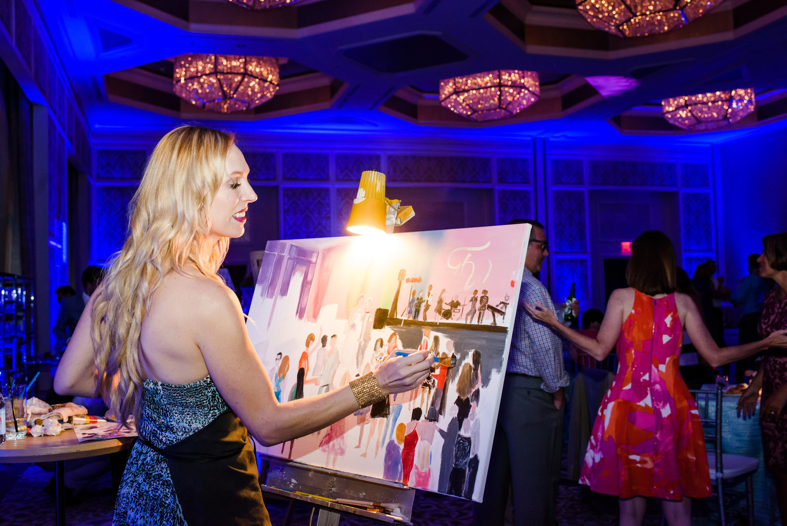 Live Painter at Four Seasons Orlando
