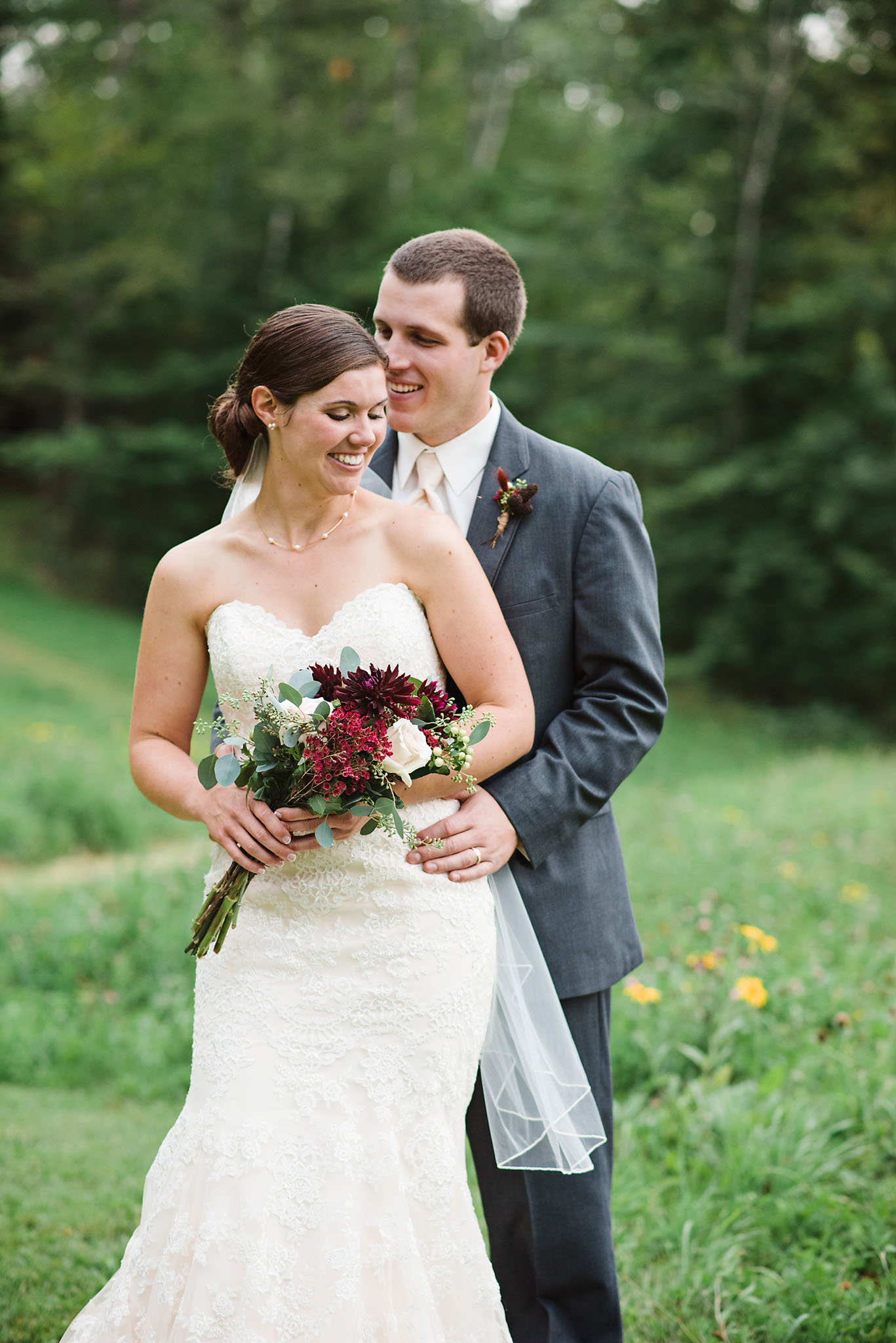 Alerin Barn wedding, fall wedding in Vermont, bride and groom portraits