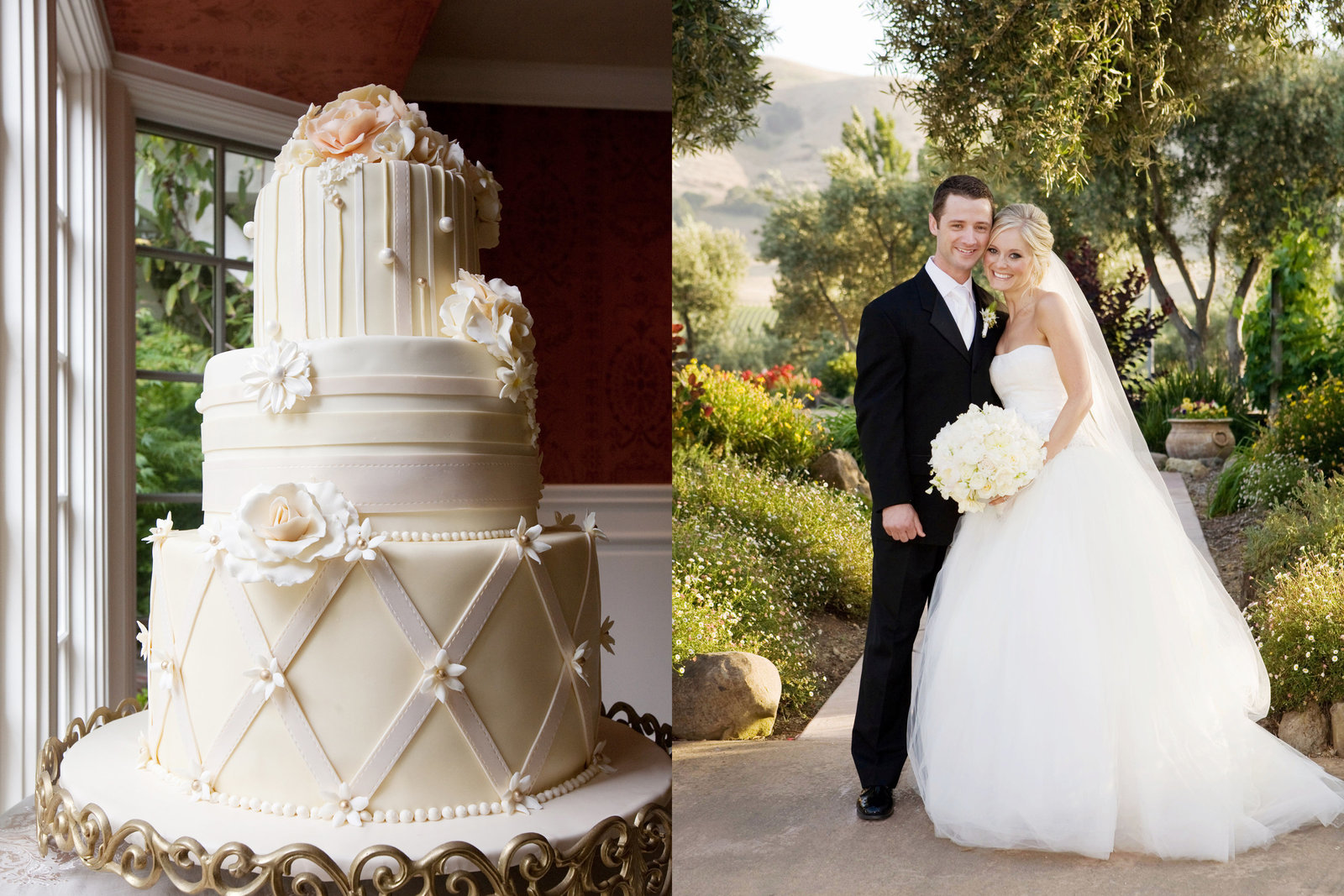 Viansa Winery, wine countr wedding, bride and groom, cake, Jennifer Baciocco Photography