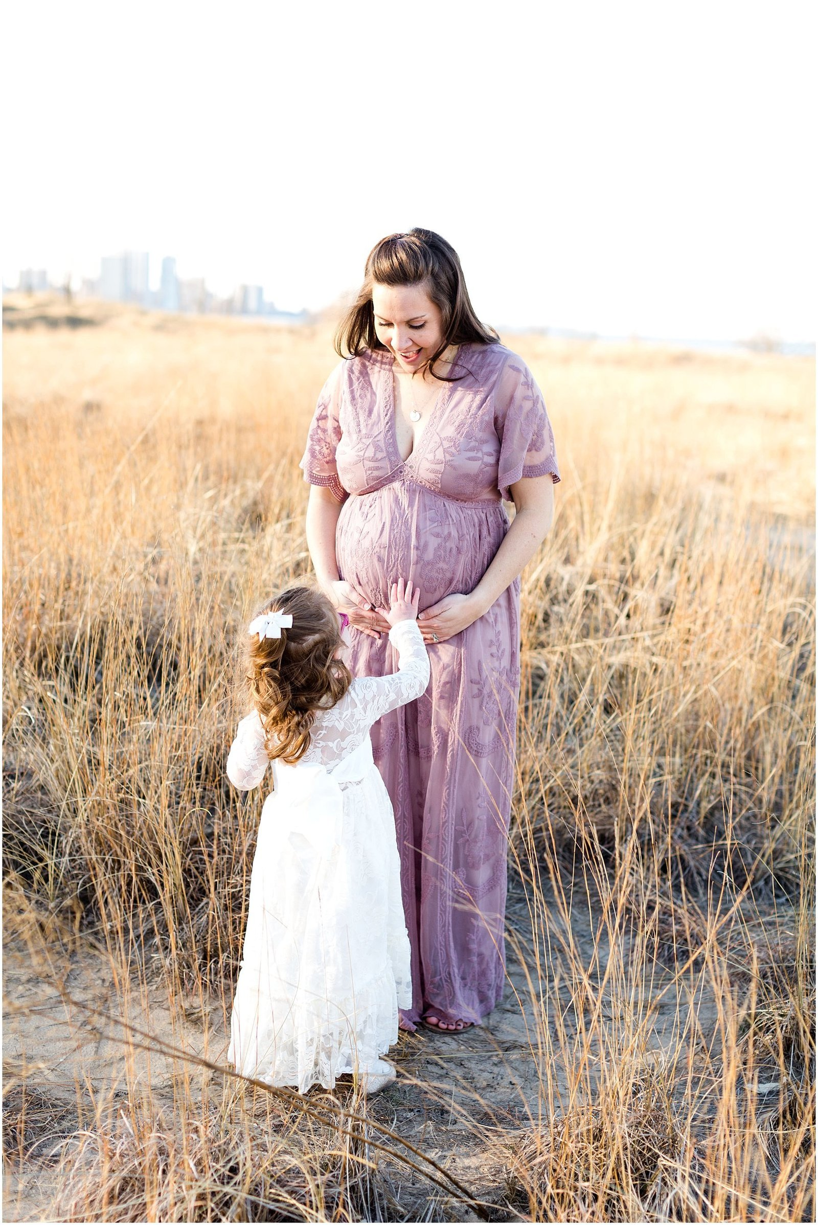 Chicago Maternity & Pregnancy Natural Light Photographer at Montrose Harbor