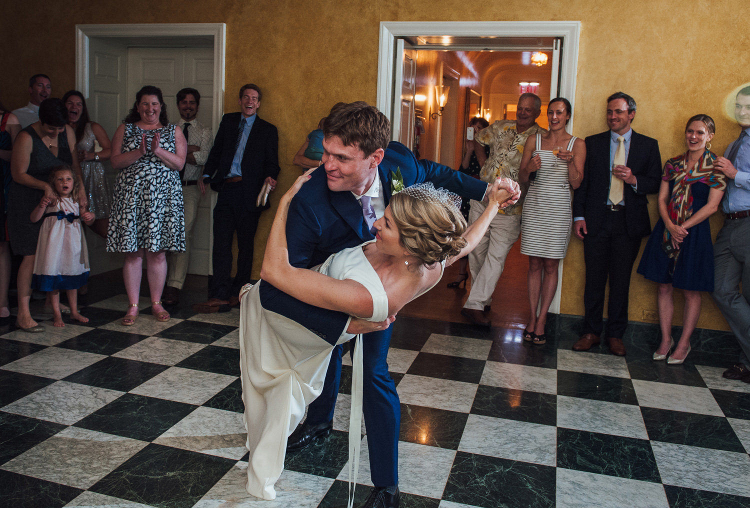 first dance between bride and groom at brantwyn estates