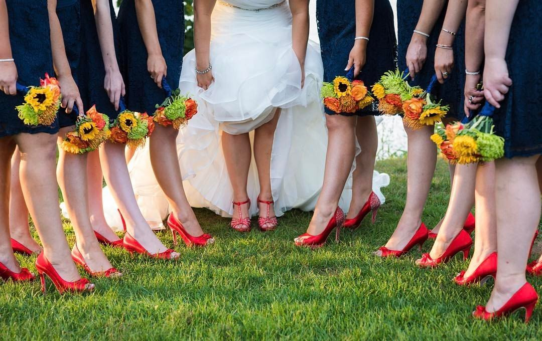15 Bride and bridesmaids shoes at Sturbridge Host Hotel Wedding