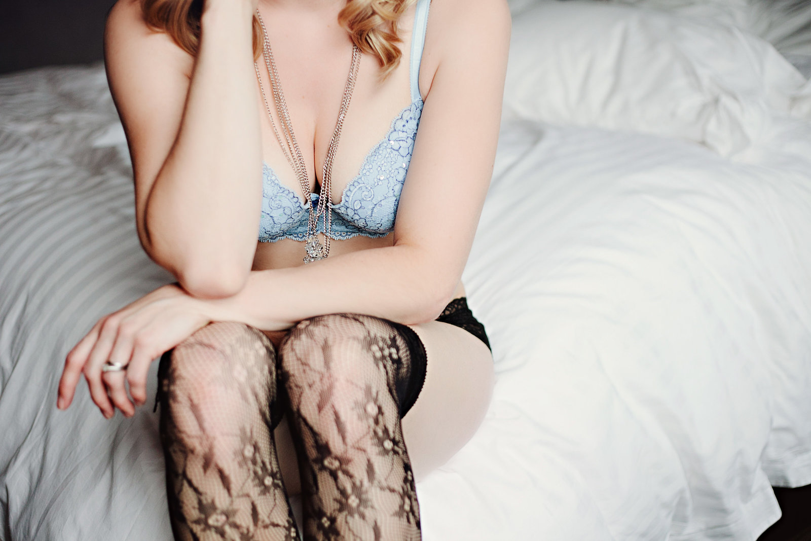 Missoula MT Boudoir Photos Sitting in mix and match lingerie