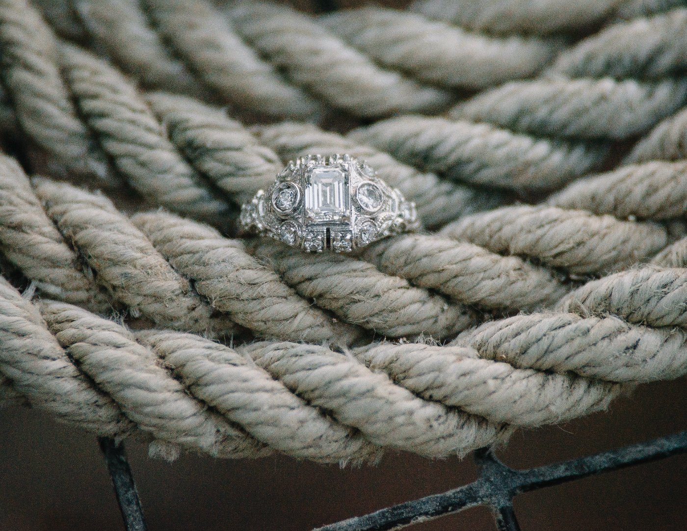 Engagement ring by Nicole Barr Photography.