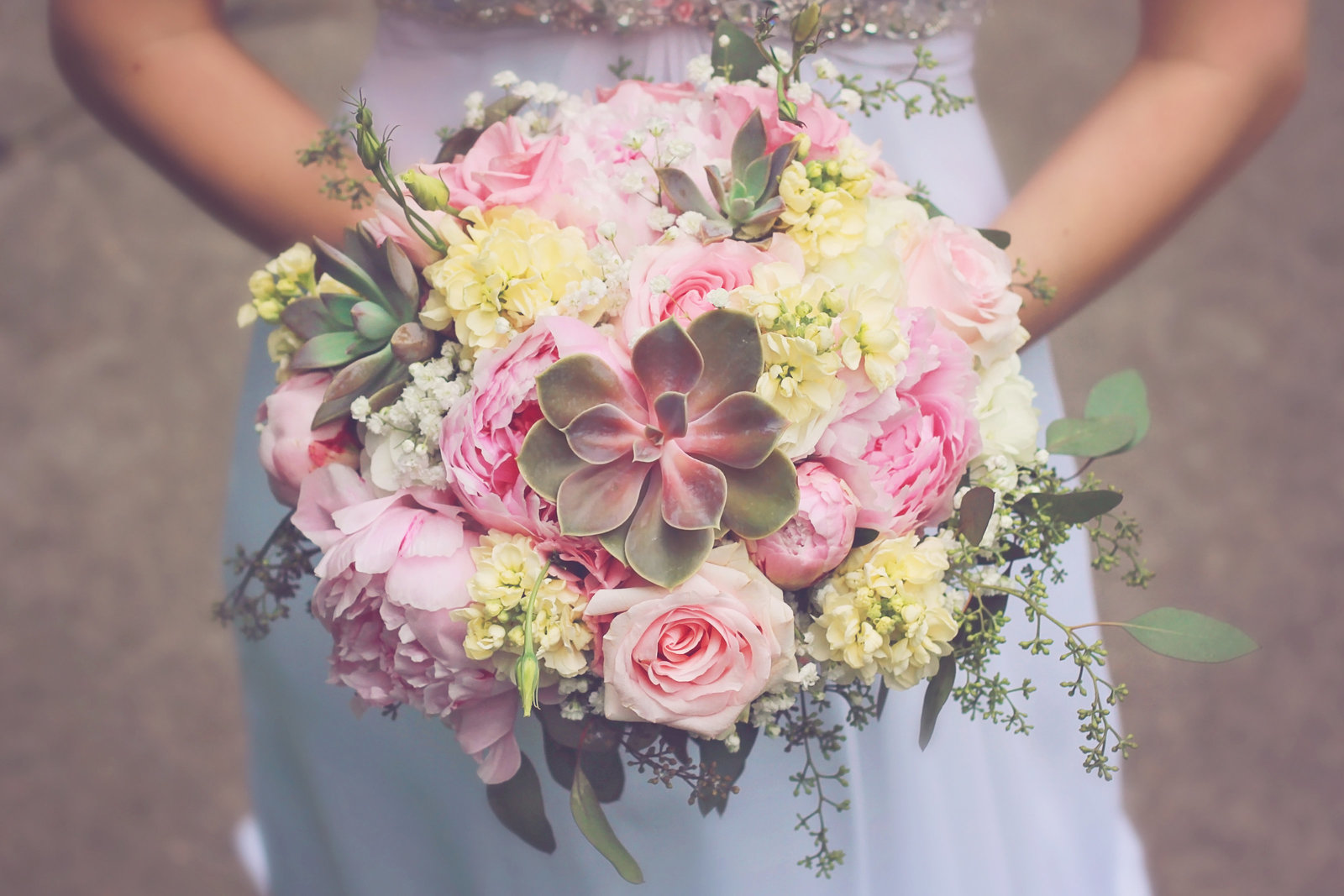 wedding | elizabeth street photography | bouquet | succulants | Fargo, ND