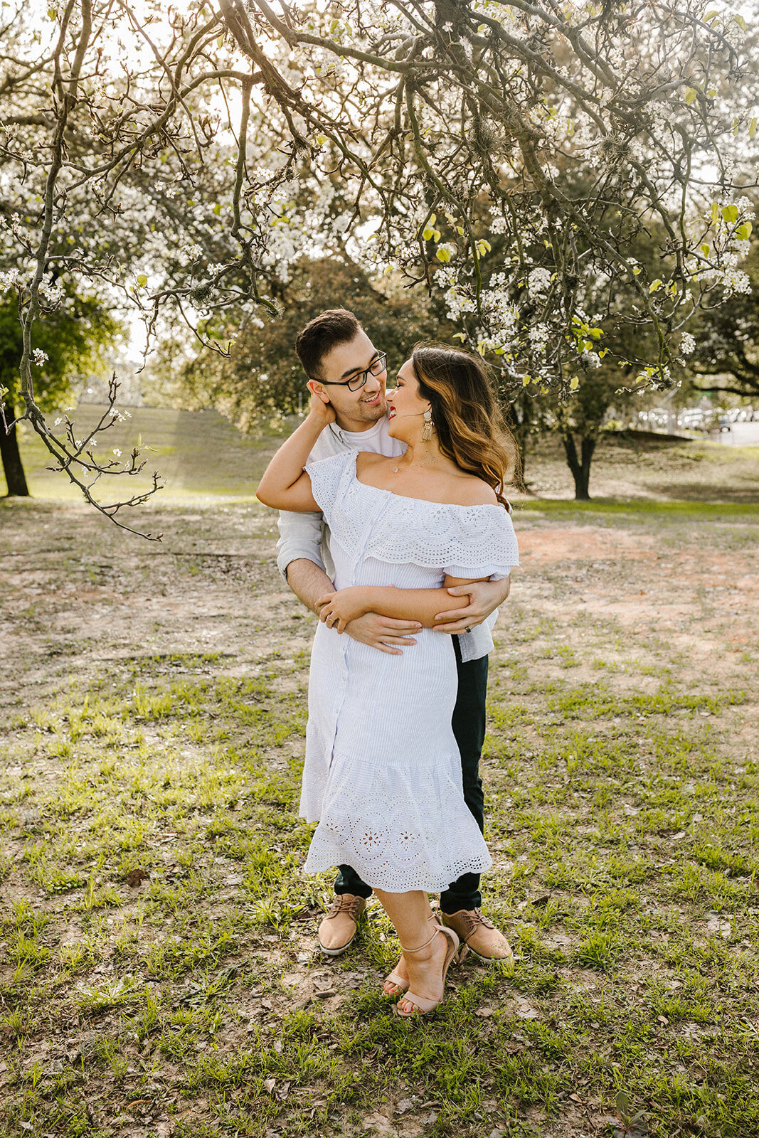 Kori+Tommy_Memorial Park and Downtown Houston Engagements_15