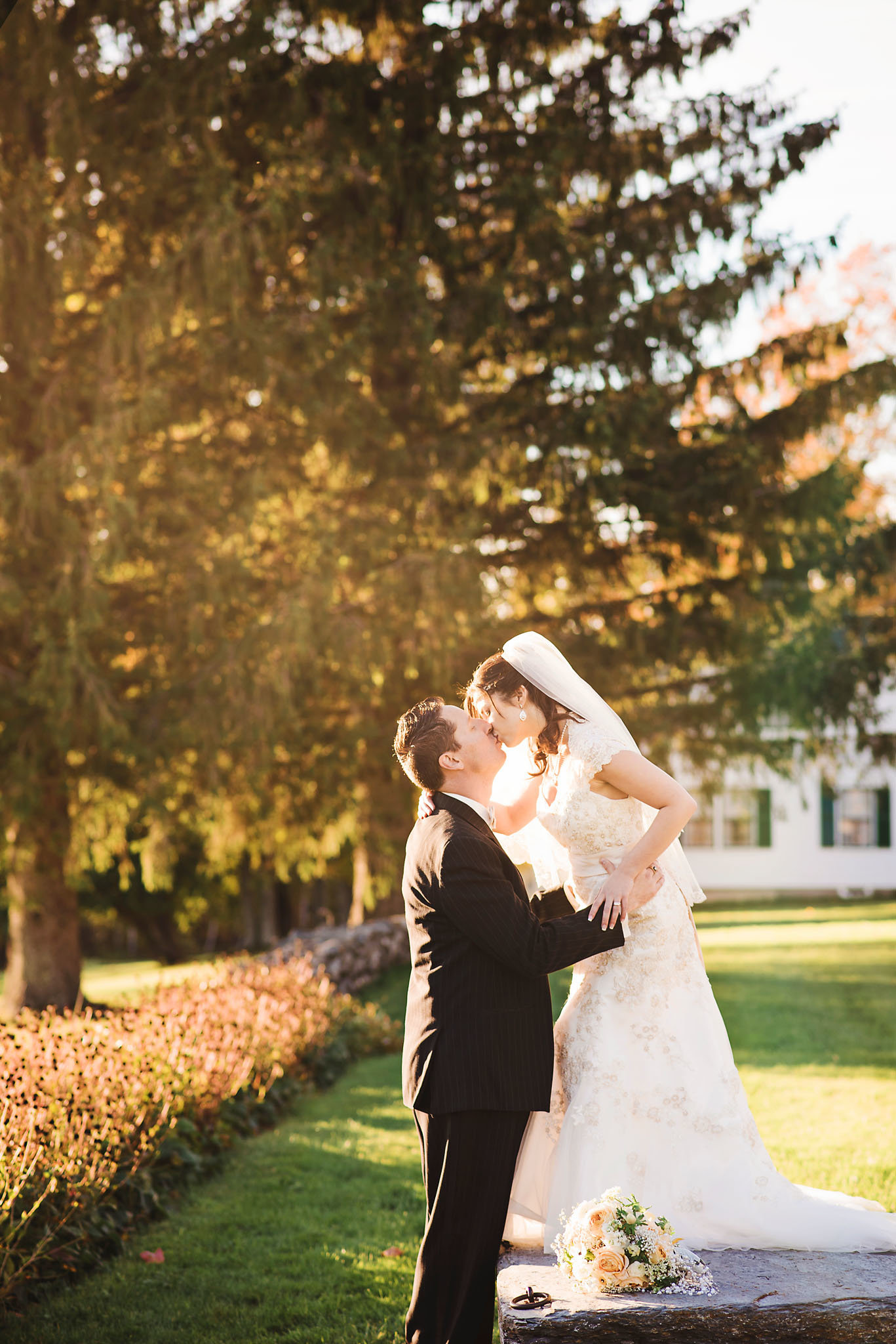 bride and groom golden hour, Breadloaf wedding, Vermont fall wedding