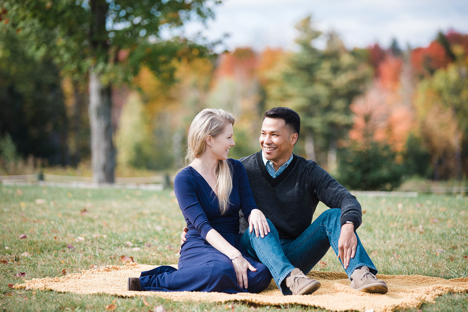 fall engagement session in Vermont