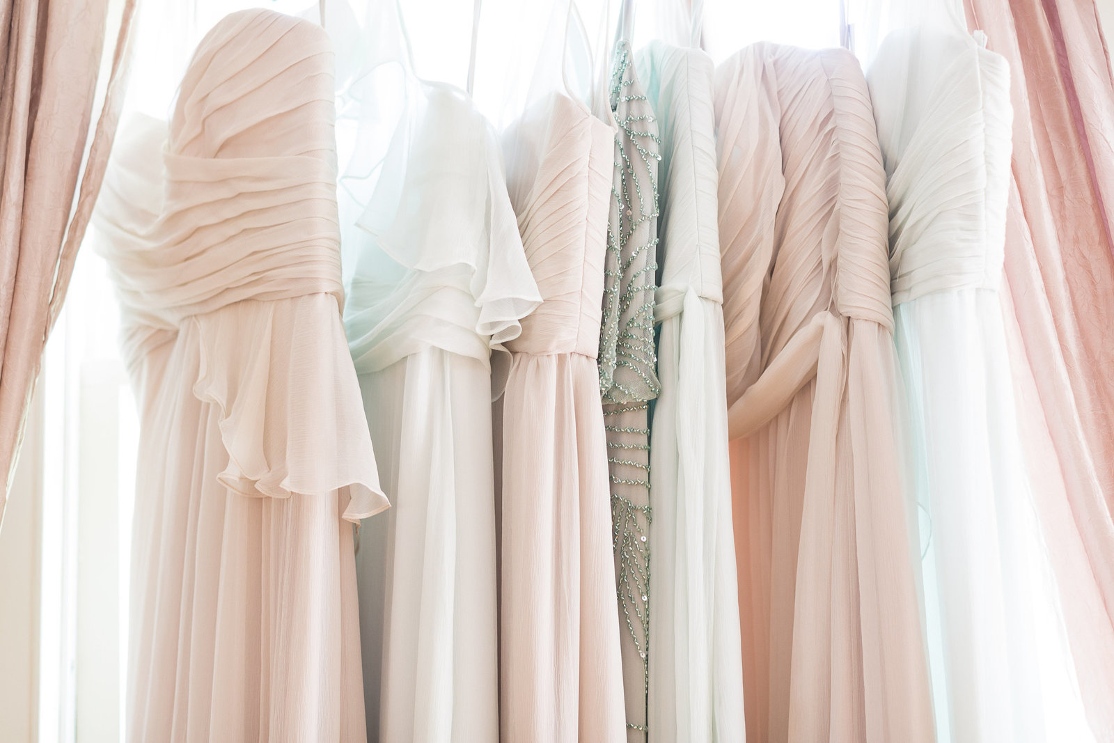Pastel Bridesmaids Dresses
